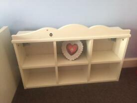 2 Ikea shelf kids room storage solid wood good condition