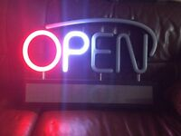 Cafe or Shop Sign - Royal Sovereign LED Premium Open Sign Board with Scrolling Message