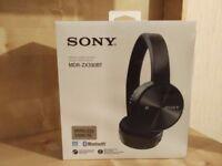 Brand New Sony Wireless & Bluetooth Headphones MDR-ZX330BT