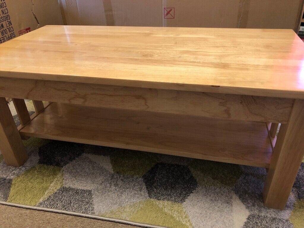 Rubberwood Coffee Table.John Lewis Solid Rubberwood Coffee Table In Light Oak Birch Colour In Gorleston Norfolk Gumtree