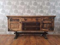 Antique edwadian soild oak sideboard