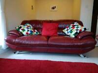 Cherry Red twin sofa's