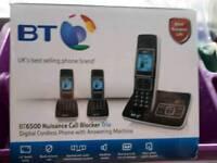 BT 6500. BOXED. NUISANCE CALL BLOCKER TRIO PHONES