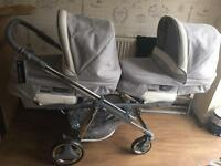 Bebe single to double pram and pushchair