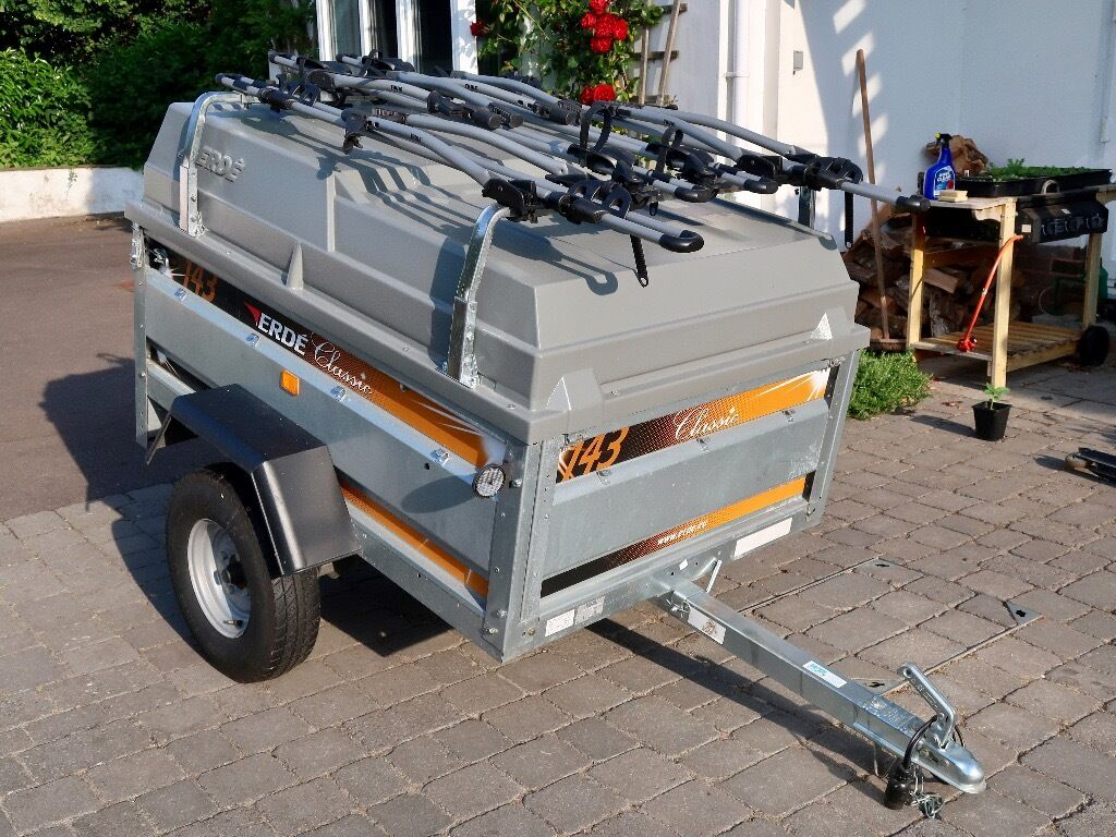 Erde 143 Trailer With Abs Lid Load Bars Bulldog Clamp