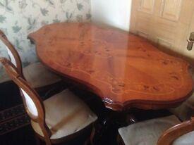 Victorian Style Mahogany Dining Table