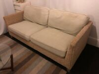 Marks and Spencer Natural Rattan Sofas