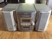 Panasonic 5 Disc CD Changer Stereo Music System (Hifi)