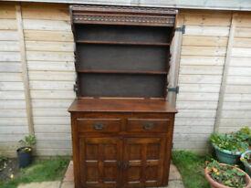 Oak Edwardian Kitchen Dresser