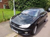PEUGEOT 206cc CONVERTIBLE 206 2001 GENUINE LOW MILAGE
