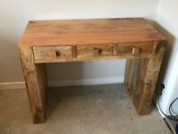 Desk with 3 drawers - Made from Mango Wood