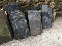 Welsh Blue Slate Roofing Slates - Various sizes / Used