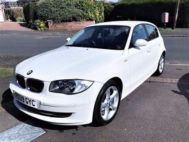 BMW 1 SERIES 118D Sport 5D 2.0 WHITE 2009 (64k Miles) FULL SERVICE HISTORY, LADY OWNER