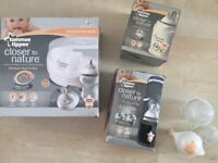 Tommee Tippee Bundle - Microwave Steriliser, Bottle & Food Warmer & x2 Thermal Travel Bags