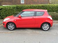 Red Suzuki swift sz3 2014