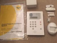 Yale Alarm security wireless System, Telecommunicating, includes PIR, sensor and instructions.