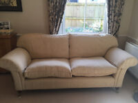 Sofa and matching arm chair Laura Ashley Mortimer style with Cream fabric