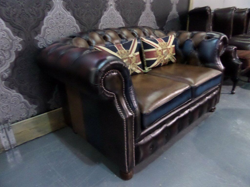 Tremendous New Chesterfield Harlequin Patchwork 2 Seater Sofa Multi Leather Uk Delivery In Whickham Tyne And Wear Gumtree Home Interior And Landscaping Sapresignezvosmurscom