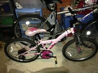 Used Girls Pink Bike 20""
