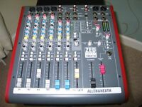 ALLEN AND HEATH MIXER-ZED10-EFX WITH USB-12 MONTHS OLD-HOME STUDIO USE ONLY.