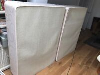 Double bed (base only) and headboard. Free!