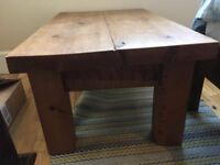 Lovely hand made pine coffee table from Holders in Chalk Farm