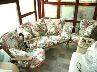 Ercol sofa and two matching chairs