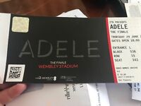 Two seated Adele tickets