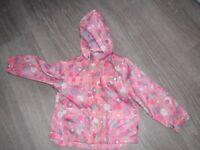 Pink spotty 3/4yrs rain jacket
