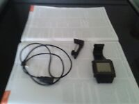 Mobile phone watch sWaP original classic stainless steel black complete with charger, USB cable blue