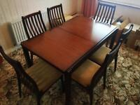 6 Seater Dining Room Table & Side Board