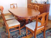 Ducal dining table and six chairs