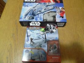 Star wars R2-D2 playset & Millennium Falcon playset- Both brand new