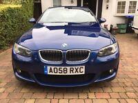 2008 BMW 330D M SPORT COUPE SAT NAV LE MANS BLUE AUTO LOW MILES 75K