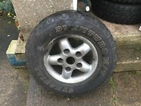 4X4 Tyres Great Condition With Alloys
