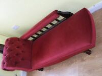 CAN DELIVER - BEAUTIFUL FRENCH STYLE CHAISE LOUNGE IN GOOD CONDITION