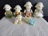 Sylvanian Dale Sheep Family with Twins Willing to combine postage please see description