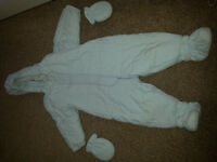 BABY BLUE BOYS DESIGNER (LITTLE VIP'S) SNOWSUIT (12 MONTHS)