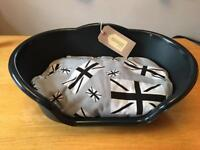 Small Cat/Dog bed with handmade cushion.