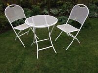 Folding patio table and 2 chairs