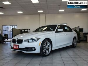 2018 BMW 3 Series 330i xDrive NAV-AWD-LEATHER-POWER ROOF