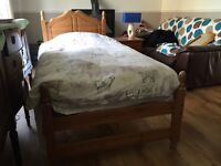 John Lewis country pine single bed with extras