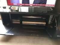 Alphason Chromium Black TV Stand - suitable for up to 50 inch screen