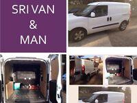 SRI SMALL VAN AND MAN 24/7.£10 ,student move ,Bay pick up, studio flat move , single item pick up.
