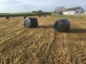 Round bale silage