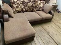 HARVEYS NICE FABRIC SOFA CHAISE IN EXCELLENT CONDITION