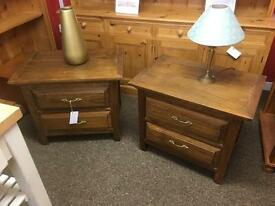 Pair of Solid oak bedside chests * free furniture delivery*
