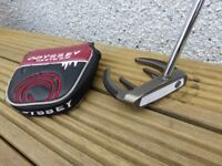 Odessey Putter - Rare Centre Shafted White Ice Sabertooth, 34 inches long, brand new grip