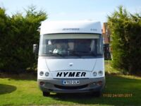 B544 Hymer 5 berth luxury motorhome