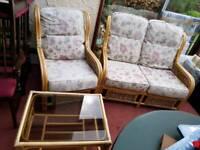 3 piece conservatory furniture set Cheadle Hulme